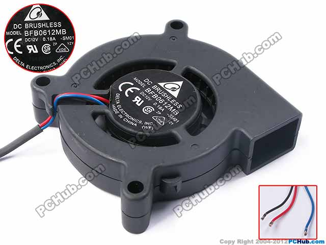Delta BFB0612MB SM01 DC 12 V 0.18A Sunucu Blower fan