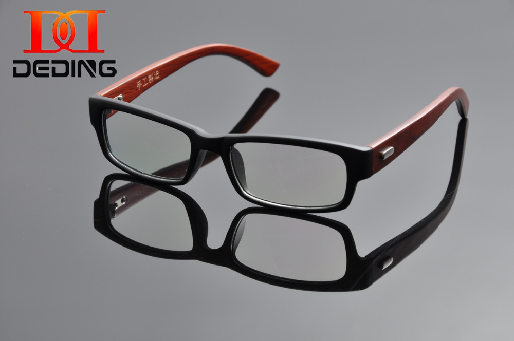 2015 DEDING Fashion Wooden Temple Myopia Hyperopia Computer Glasses TR90 Prescription Lenses Glasses oculos de grau DD0999